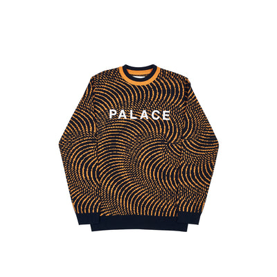 SWIRLY WURLY KNIT BLACK / ORANGE