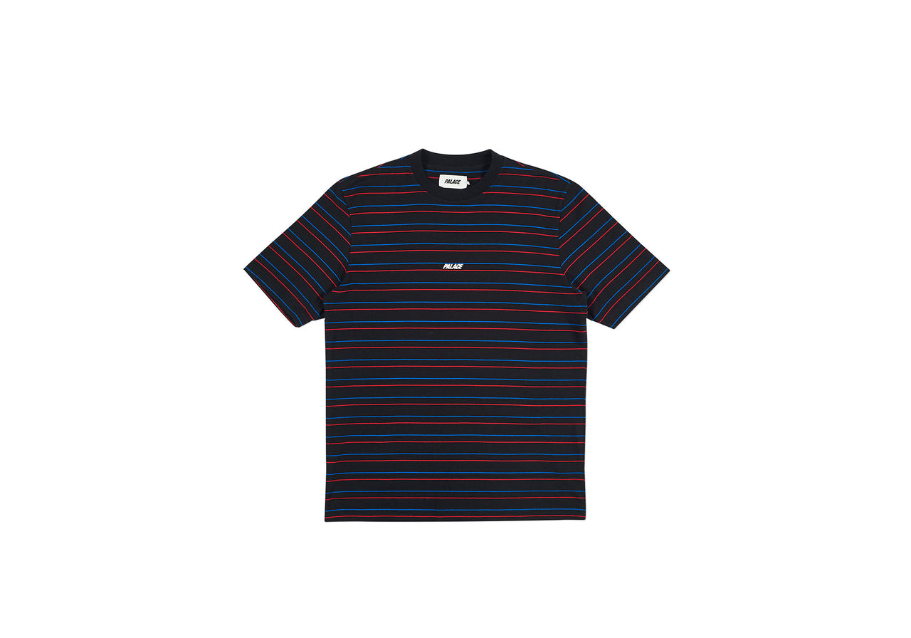 BASICALLY A STRIPE T-SHIRT BLACK