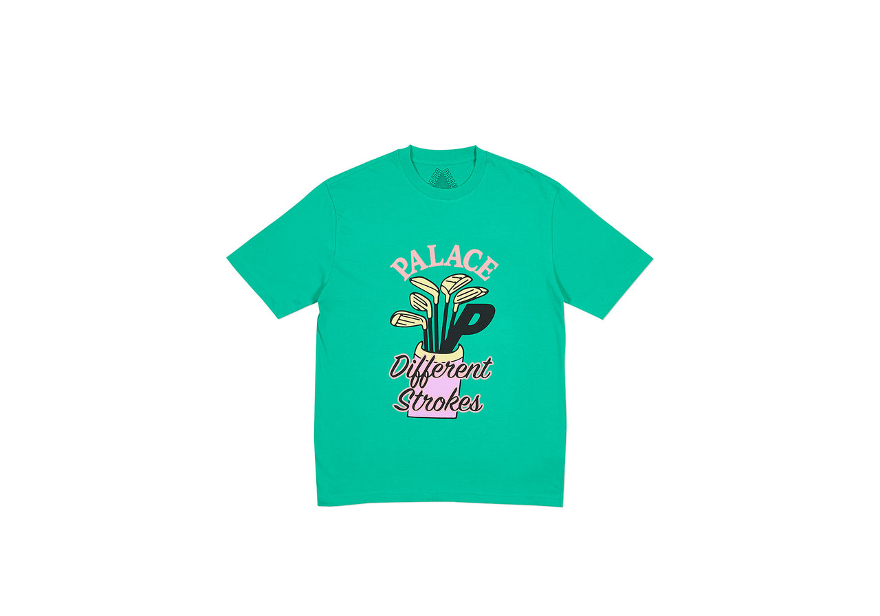 DIF STROKES T-SHIRT POOL GREEN