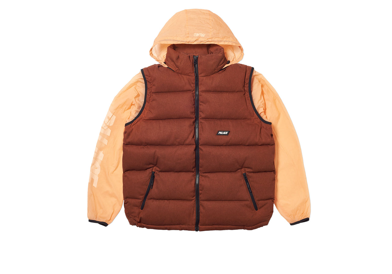 REACTO PUFF ZIP OFF JACKET ORANGE