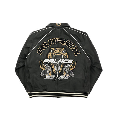 PALACE AVIREX NO SNAKES JACKET BLACK