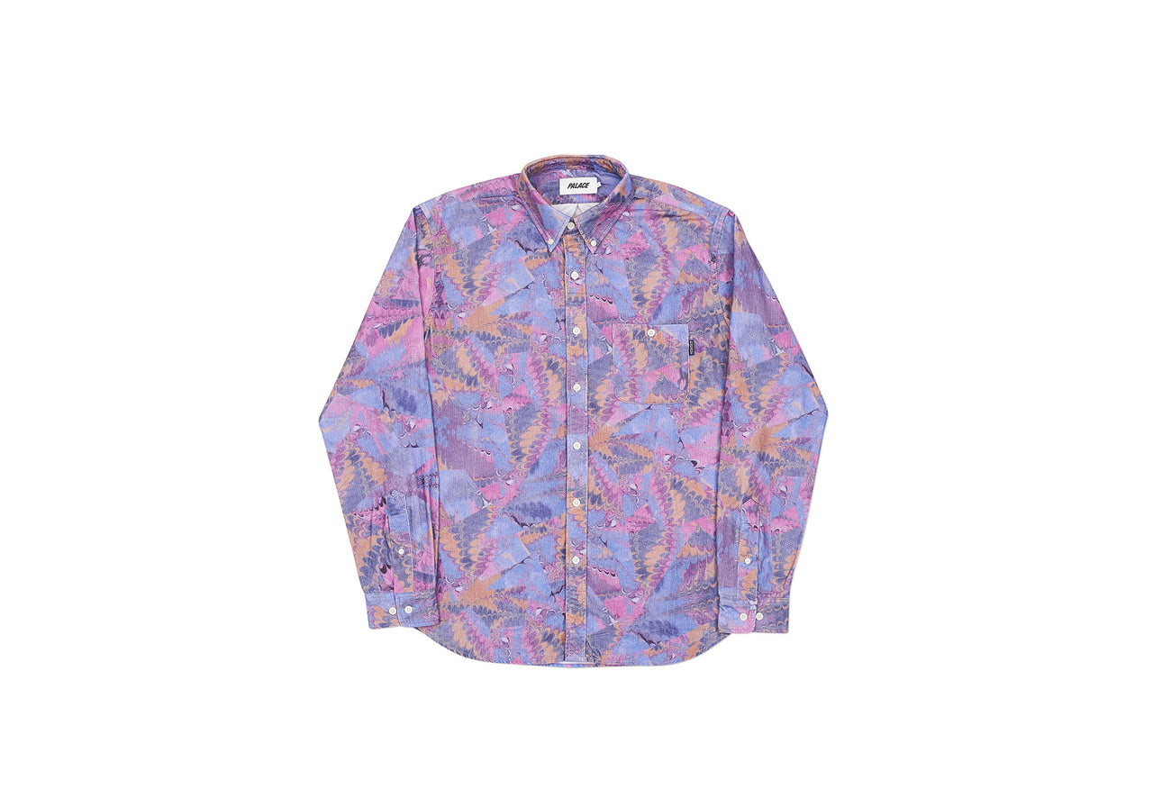 WARP PATTERN SHIRT PURPLE