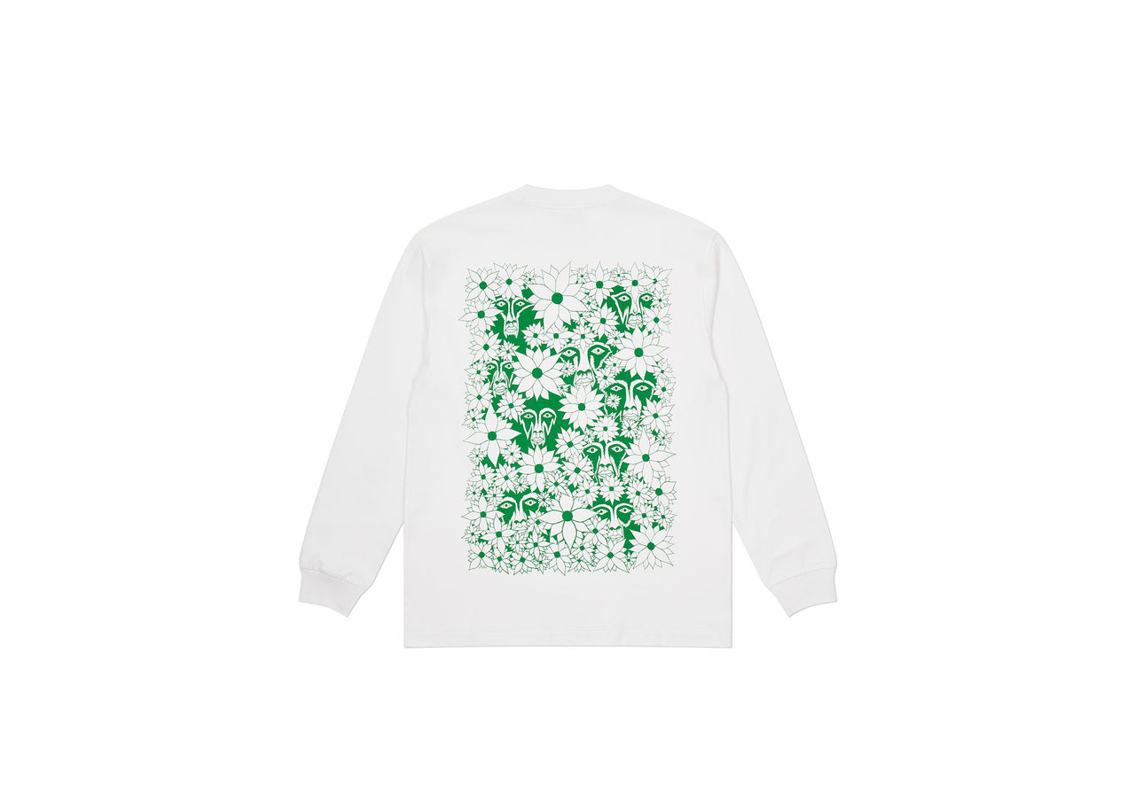 PALACE SUBURBAN BLISS FLOWER FACES LONGSLEEVE WHITE