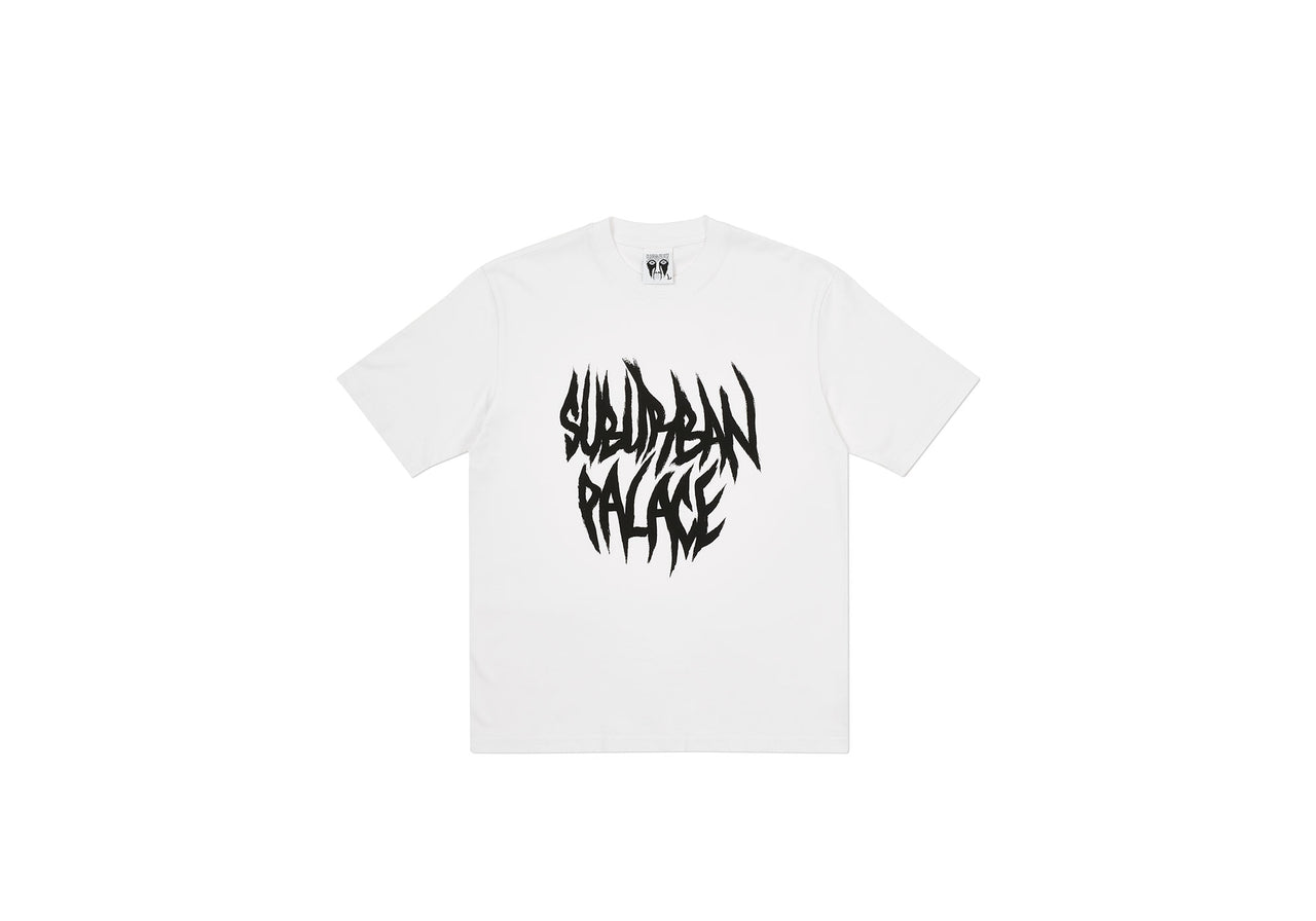 PALACE SUBURBAN BLISS PAINTBRUSH T-SHIRT WHITE