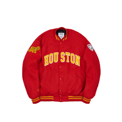 HOUSTON EBBETS VARSITY JACKET RED