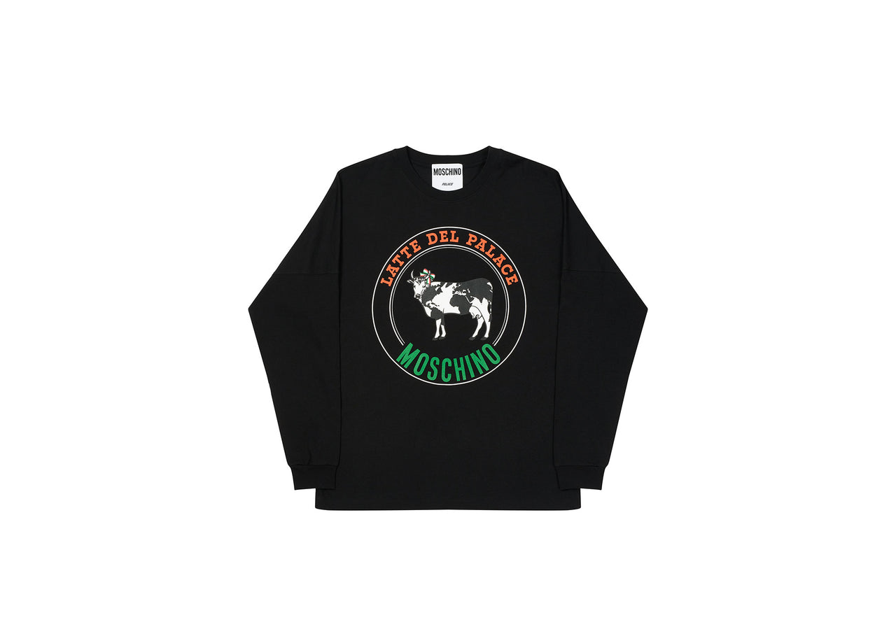 PALACE MOSCHINO COW LONGSLEEVE BLACK
