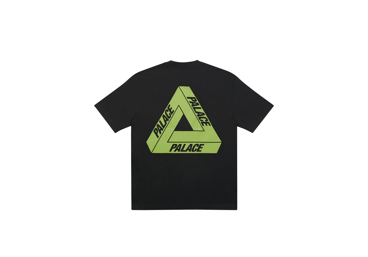 TRI-TO-HELP T-SHIRT BLACK / BRIGHT GREEN