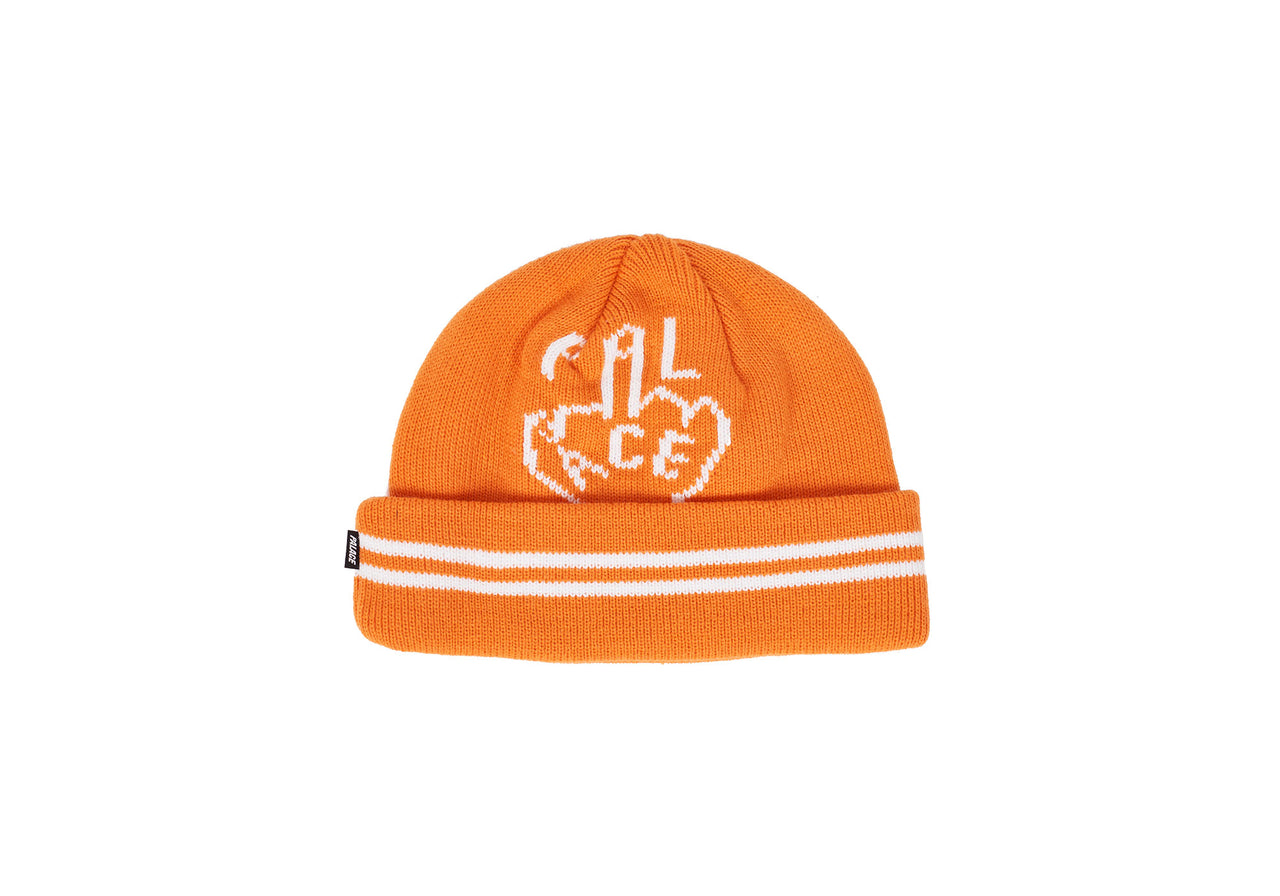 FINGER UP BEANIE ORANGE