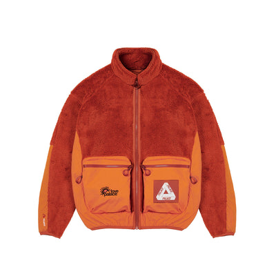 POLARTEC HIGH-LOFT TEDDY FLEECE JACKET PUMPKIN