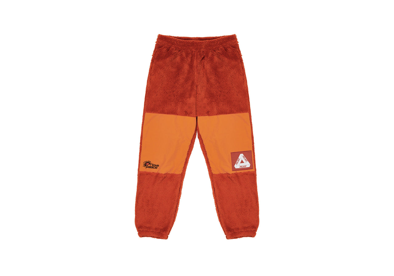 POLARTEC HIGH-LOFT TEDDY FLEECE JOGGERS PUMPKIN