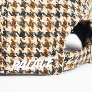 P 6-PANEL HARRIS TWEED BROWN CHECK