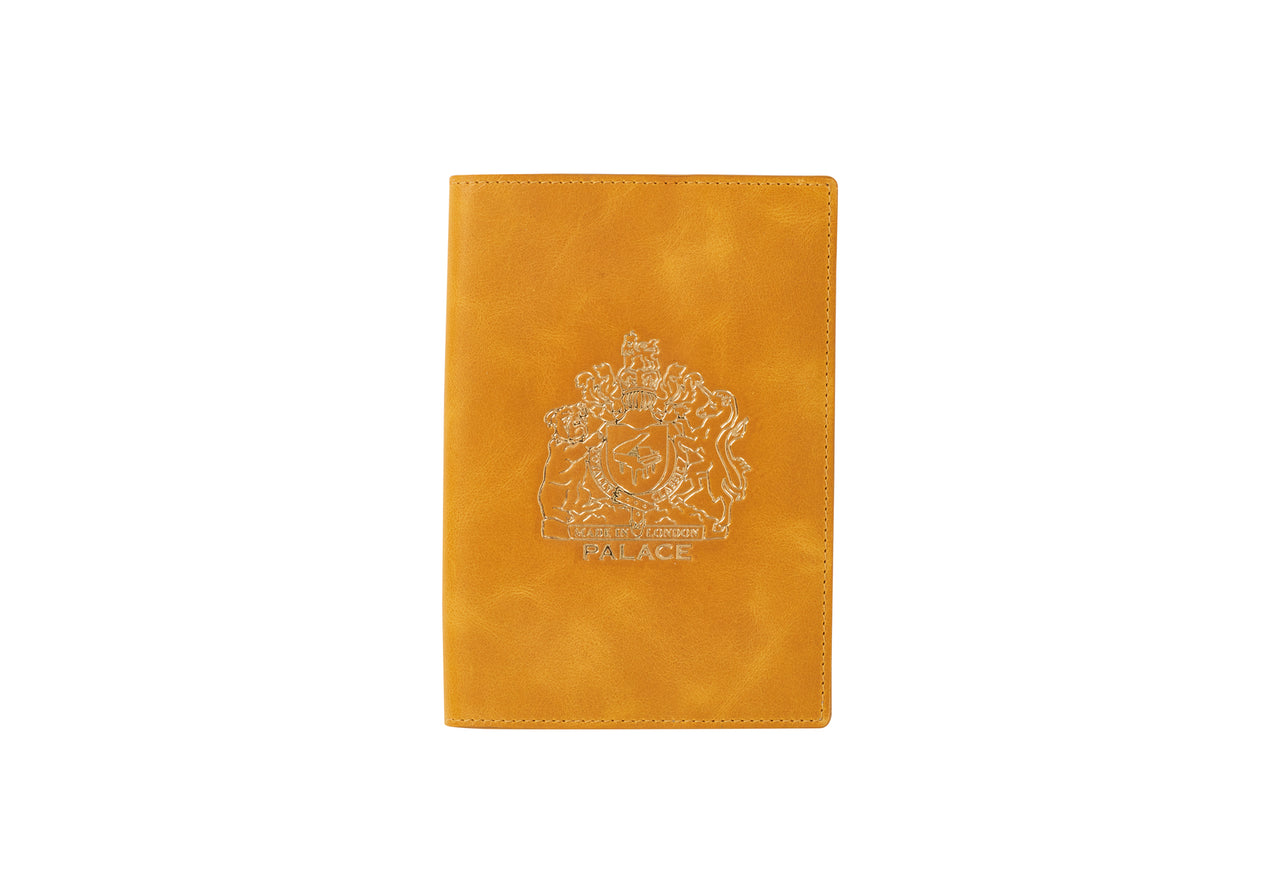 LEATHER PASSPORT CASE YELLOW