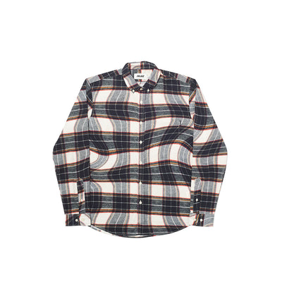 LUMBER WAVED SHIRT BLACK / WHITE