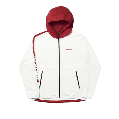WAXIMUM ECHO TECH FLEECE HOOD WHITE