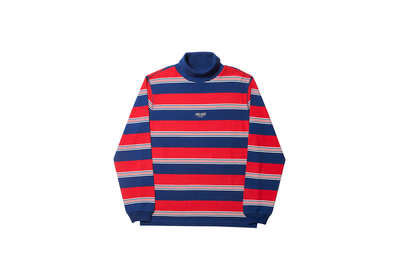 STRIPED HIGH ROLLER TOP RED / WHITE / NAVY