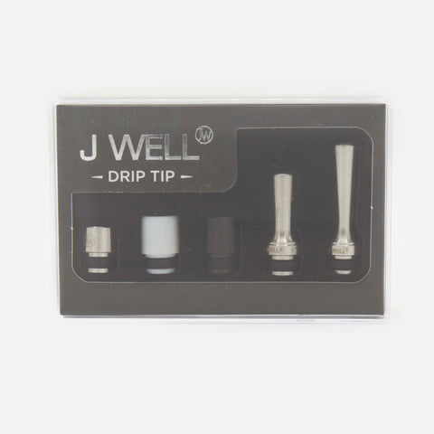 J WELL France Drip Tips 510 set Delrin Metal