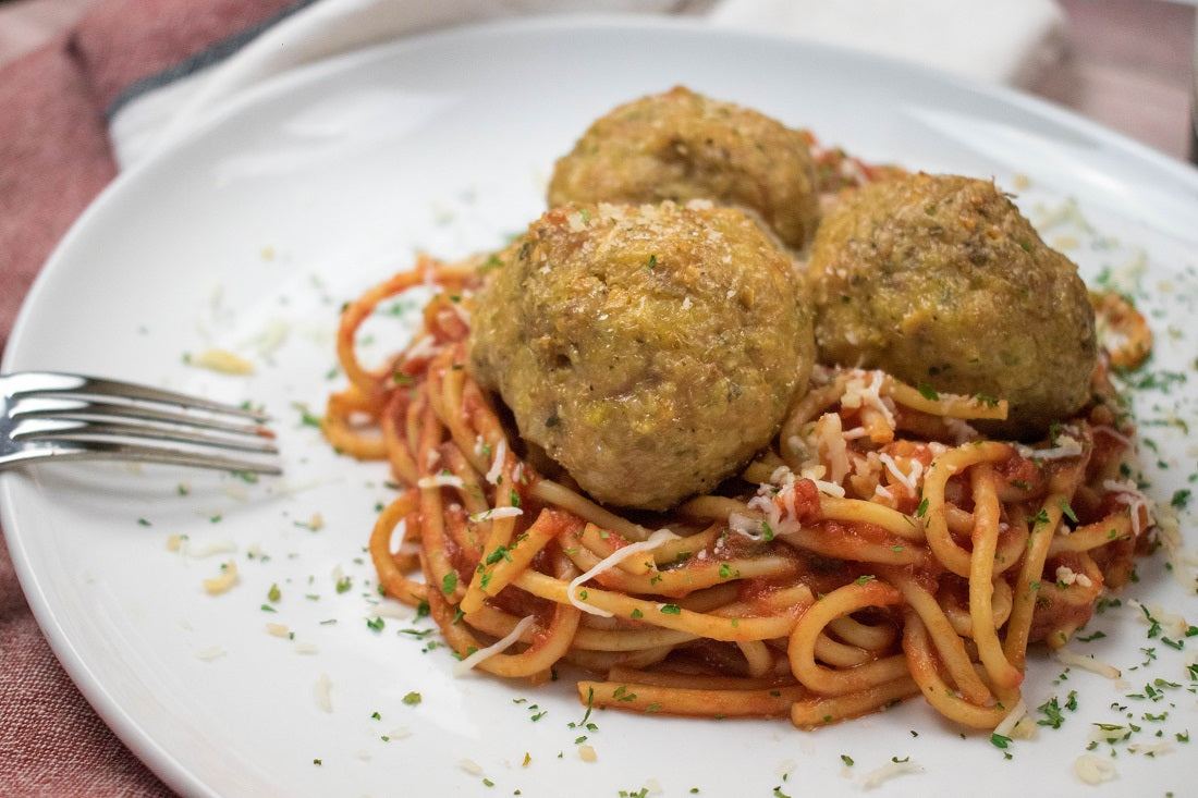 Chicken Meatballs with Spaghetti