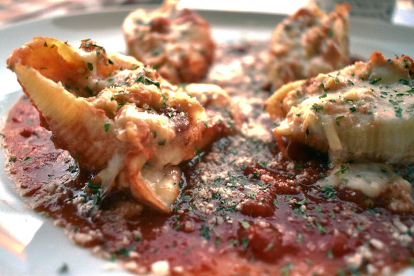 Spicy Marinara Chicken Parmesan Stuffed Pasta Shells