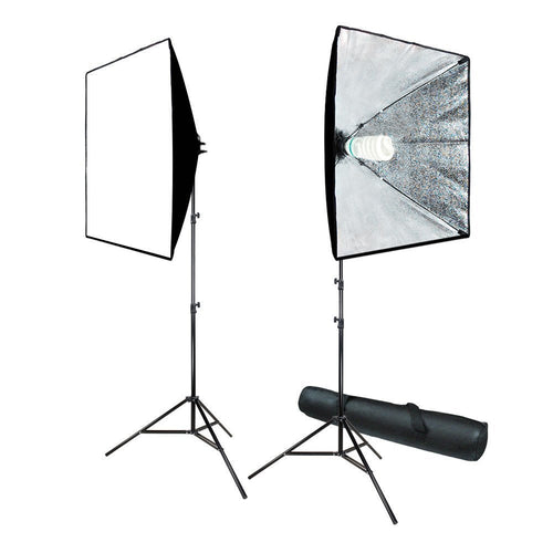 700W Photography Softbox Light Lighting Kit Photo Equipment Soft Studio Light Softbox 24