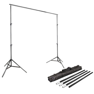 10Ft Adjustable Muslin Background Backdrop Support System Stand