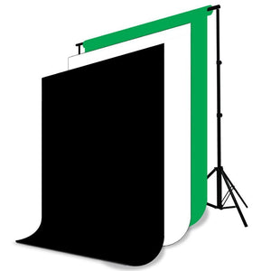3meter x 2.6meter / 10foot. x 8.5foot. Background Support System, 800W 5500K Umbrella Lighting Kit for Photo Studio Product, Portfolio and Video Shooting Photography Studio