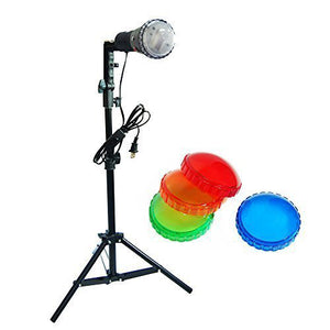 Backlight Slave Strobe Flash Stand Lighting Kit with 4 Color Gel Flash Filters