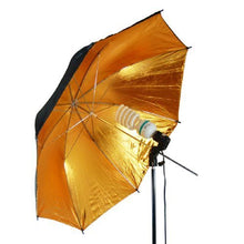 "33"" Black & Gold Black/Gold Photo Studio Umbrella Photo Video umbrella Reflector"