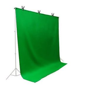 Green Chromakey Muslin Backdrop Background Screen for Photo Video Studio, 3 x Backdrop Clamp