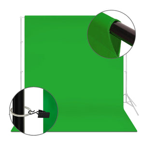 Green Muslin Backdrop Muslin with Backdrop Ring Holder Clip, Backdrop Stands Not Included