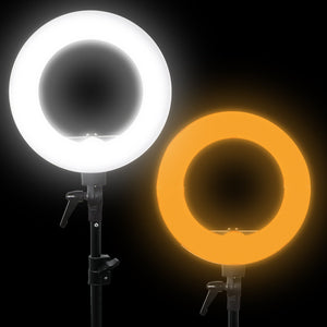 14-inch Diameter LED Ring Light, Continuous Lighting Kit
