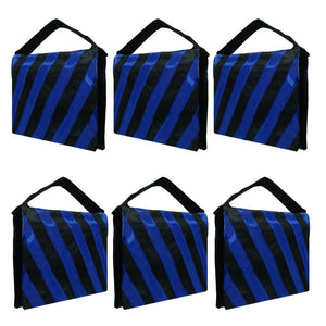 Sandbag 6 Packs of Heavy Duty Photographic Sandbag Blue Stripe, Video Photo Studio Weight Bag