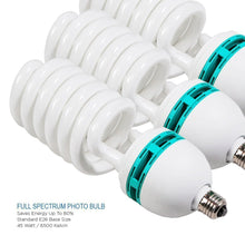 Full Spectrum Light Bulb- Four 45W Photography Photo CFL 6500K - Daylight balanced pure white light