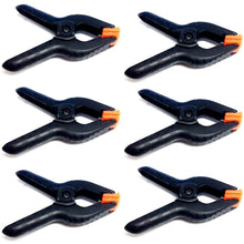 6 PCS Black Nylon Muslin / Paper Photo Backdrop Background Clamps, 3.75 inch