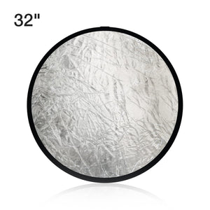 2-in-1 32 Inch Photo Lighting Reflector, Collapsible Disc Reflector, Video Lighting Modifier Studio Photography Reflector Disc Panel