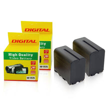 [2-Pack] 7800mah, 7.2V Rechargeable Replacement Battery For Sony NP-F960/F970 Cameras and Video Camcorders