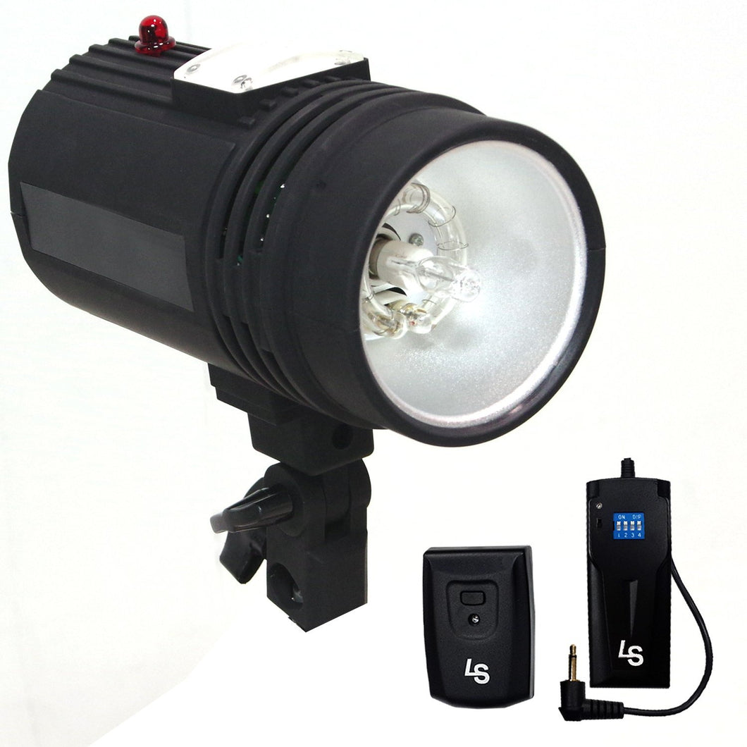Flash Strobe Light 200 W, Sync Cord, Fuse, Test Button, Umbrella Input, Mount on Light Stand with , Radio Sync Transmitter & Receiver