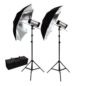 "600W Flash/Strobe Lighting Kit w/ 40"" Wide Umbrella"