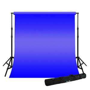 10 x 10 ft Blue Chromakey Backdrop Kit