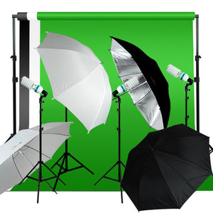 Photography Studio Video Lighting Kit w/ 3 Color Supporting System