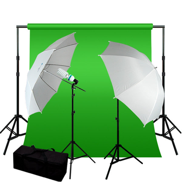 10 x 12 ft ChromaKey Green Screen Digital Photography Studio Video Lighting Kit