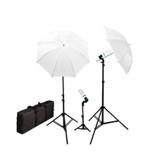 Photography Studio Video Portrait Umbrella Continuous Bulb Triple Lighting Kit