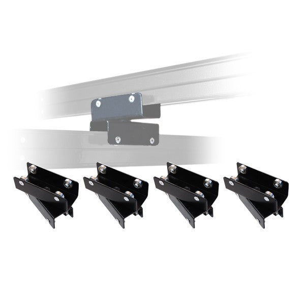4x Rail Track System Double Sliding Carriage