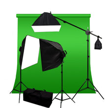 10 x 20 ft Green Chromakey Backdrop Photography Video Lighting Kit