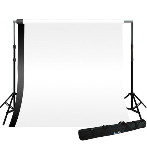 8.5 x 10 ft Background Stand, White Black 10 x 10 ft Backdrop