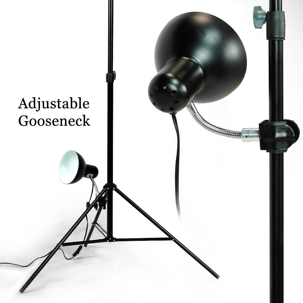 Adjustable Gooseneck Photo light head w/ C-clamp