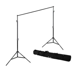 Background Support Stand, Backdrop Support System Kit with White, Black, Green Muslin Backdrop and Background Spring Clamps