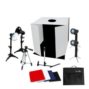 "20"" Photo Box Kit w/ Light, Accent Light, Tripod"