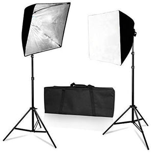 "LS Photography 19"" x 19"" Soft Box Lighting Kit with Cover, Photography Light Stand, SRE1300"