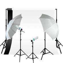 Photography Video Continuous Lighting Kit w/ Backdrop Support System