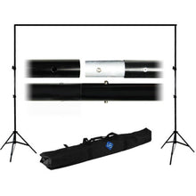 10ft Adjustable Background Support Stand Photo Backdrop Crossbar Kit